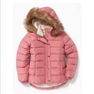 Girls Old Navy Pink Puffer Jacket Size XS